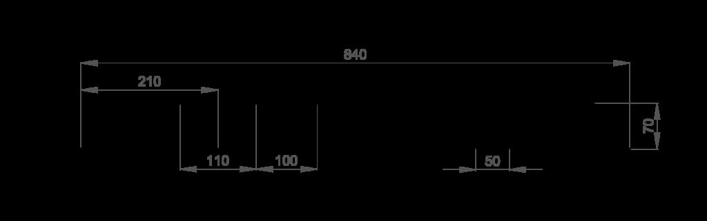 Chapa trapezoidal cubierta Deck 70/210