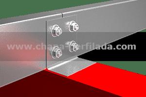 Perfil C, conector y ejion