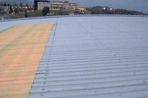 Chapa Trapezoidal en tejado de edificio emblematico